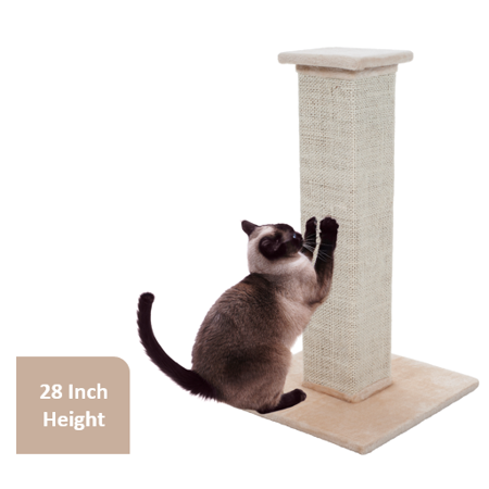 Cat Scratching Post Sisal Burlap, 28