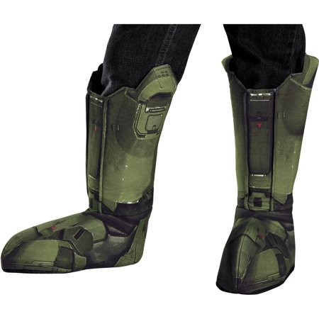 Master Chief Boot Covers Adult Halloween Accessory (Watch Ink Master Halloween)