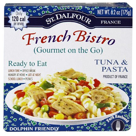 St. Dalfour Gourmet On The Go, Ready to Eat Tuna & Pasta, 6.2 Ounce Tins