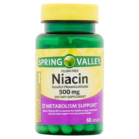 Spring Valley Niacin Capsules 500 Mg 60 Ct Walmart Com