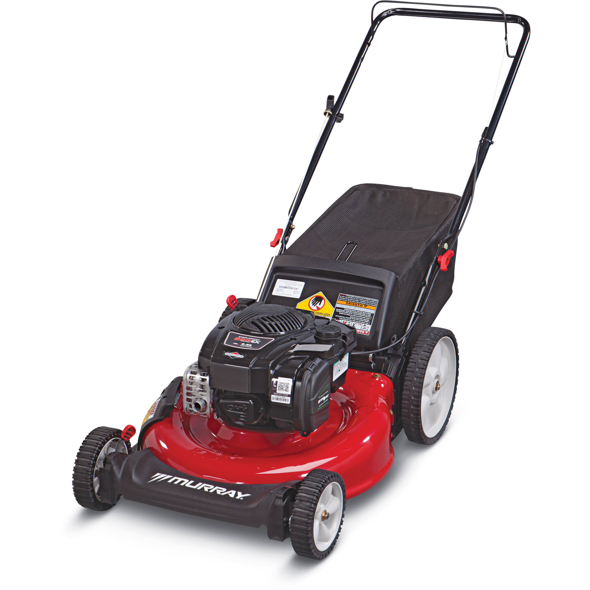 "Murray 21"" Gas Push Mower with Side Discharge, Mulching, Rear Bag"