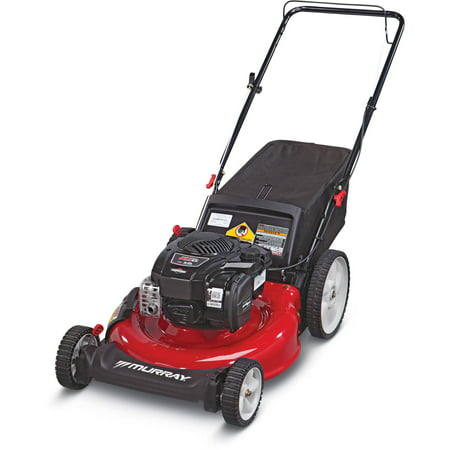 Murray 21 Gas Push Mower With Side Discharge Mulching Rear Bag