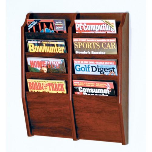 Wooden Mallet 8 Pocket Wall Mount Magazine Rack