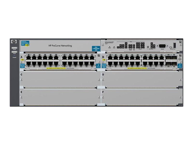 Aruba 5406-44G-PoE+ 4SFP zl Switch managed 44 x 10 100 1000 (PoE) + 4 x SFP rack-mountable PoE by Hewlett Packard Enterprise