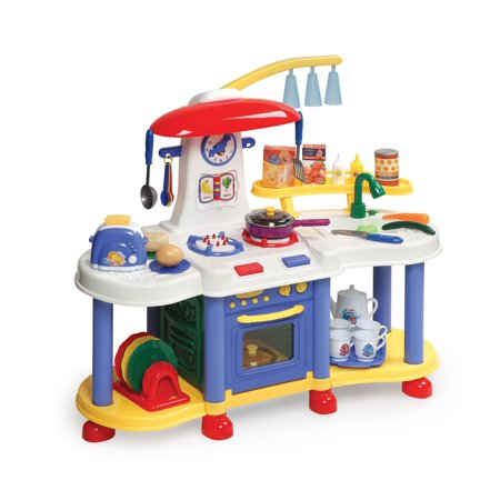 (Badger Basket Super Electronic Play Kitchen with Accessories)