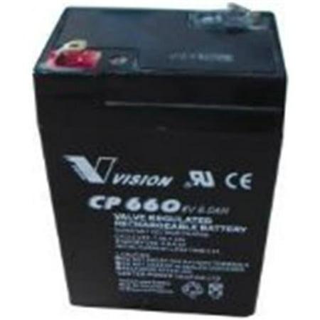 National Brand Alternative 673035 Exit Rechrg Battery 6V6a