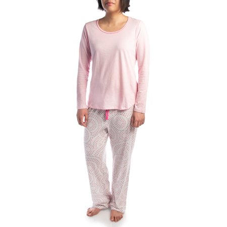 Jockey (2 Piece) Soft Pajama Set For Women Cotton Long Sleeve Shirt Pants Ladies PJs For Teen Girls - Cute Teen Pajamas