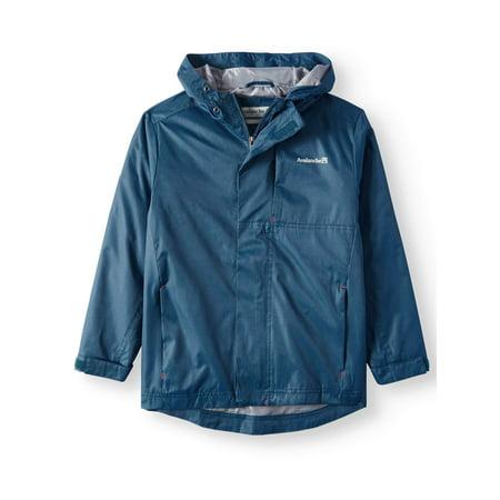 Hooded Rain Shell Jacket (Little Boys & Big Boys) (Nike Boy Coat)