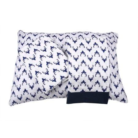 Bacati   Aztec Tribal Navy 3 Piece 100  Cotton Breathable Muslin Toddler Bedding Sheet Set  Bucks