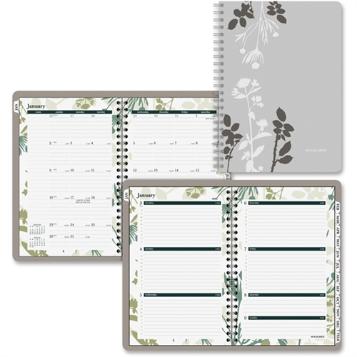 AT-A-GLANCE Botanical Weekly/Monthly Academic Planner