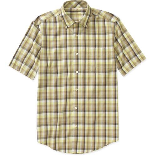 Faded Glory Men's Short Sleeve Plaid Shirt