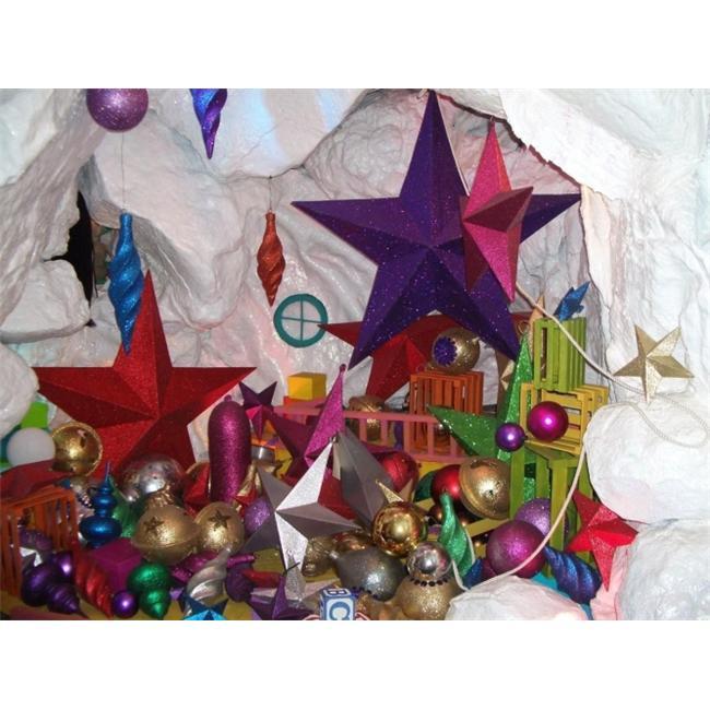Barrango - 15 Inch Glitter Star Oversized Ornament