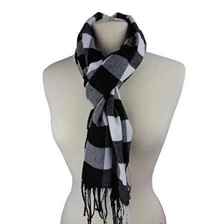 Plaid Pattern Scarf with Ultra Soft Feel for Men and (Wear Mens Scarf)