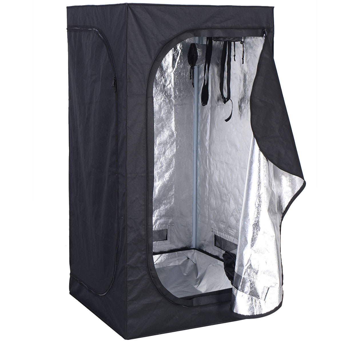 Costway Indoor Grow Tent Room Reflective Hydroponic Non Toxic Clone Hut 6 Size (32u0027  sc 1 st  Walmart & Costway Indoor Grow Tent Room Reflective Hydroponic Non Toxic ...