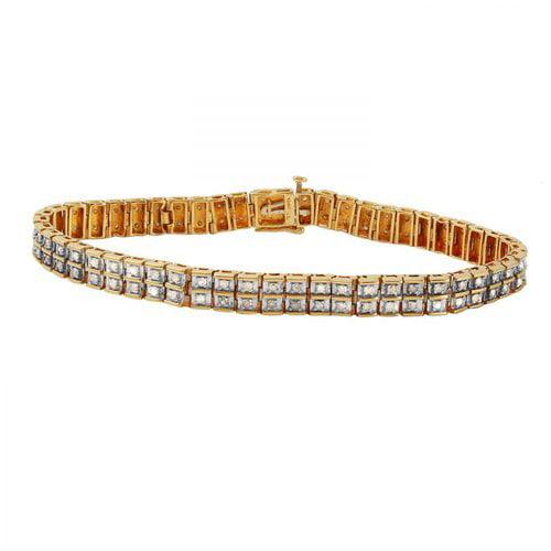 Ladies 2 Carat Diamond 10k Yellow Gold Bracelet by Generic