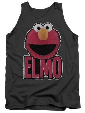 52064d64 Product Image Sesame Street Classic Children's TV Show Elmo Smile Adult  Tank Top Shirt