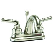 LAV FAUCET 2-HNDL POPUP BR NIC
