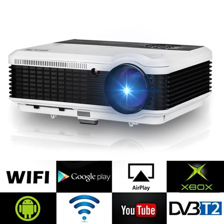 4500Lumens 1080P WiFi LED Home Cinema Theater 3D Projector TV USB
