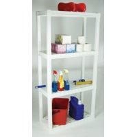 HYPER TOUGH 4-tier Interlocking Shelf (White)