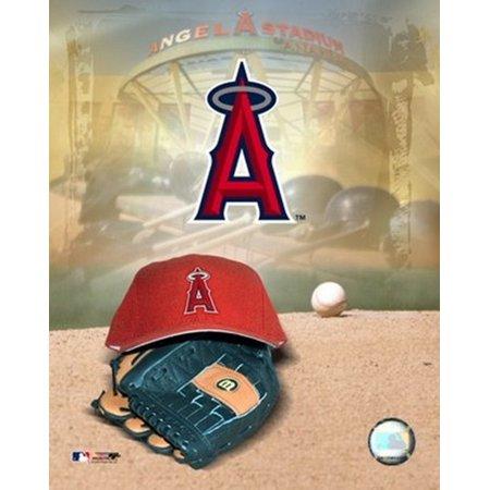 Anaheim Angels - 05 Logo Cap and Glove Sports Photo ()