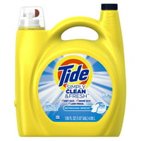 Tide Simply Clean and Fresh Refreshing Breeze Liquid Laundry Detergent 89 Loads, 138 Fl Oz