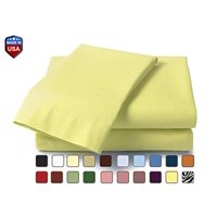 "Mayfield 200 Thread Count Cotton Blend Electric Adjustable Bed Sheet Set 30"" X 84"" Yellow"