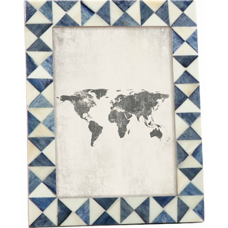 Mainstays Blue-Grey Resin Tabletop Picture Frame, 5x7