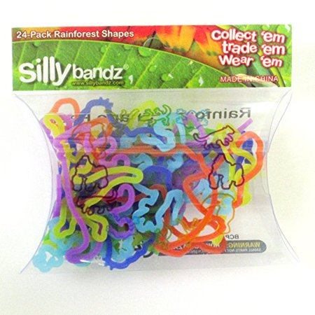 Cp Silly Bandz Rainforest Shapes Bracelet Collection 24 Pack Silly Rubber - Rubber Bracelets Custom