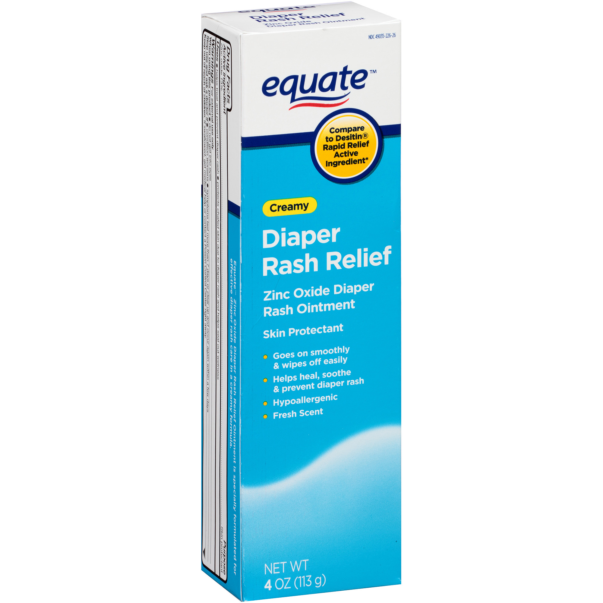 Equate Diaper Rash Cream, 4 oz