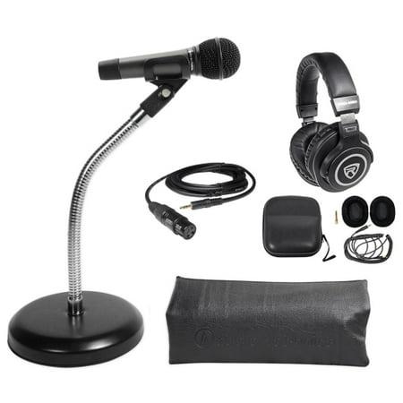 Audio Technica 1-Person PC Podcasting Podcast Microphone+Gooseneck+Headphones (Audio Podcasting Kit)