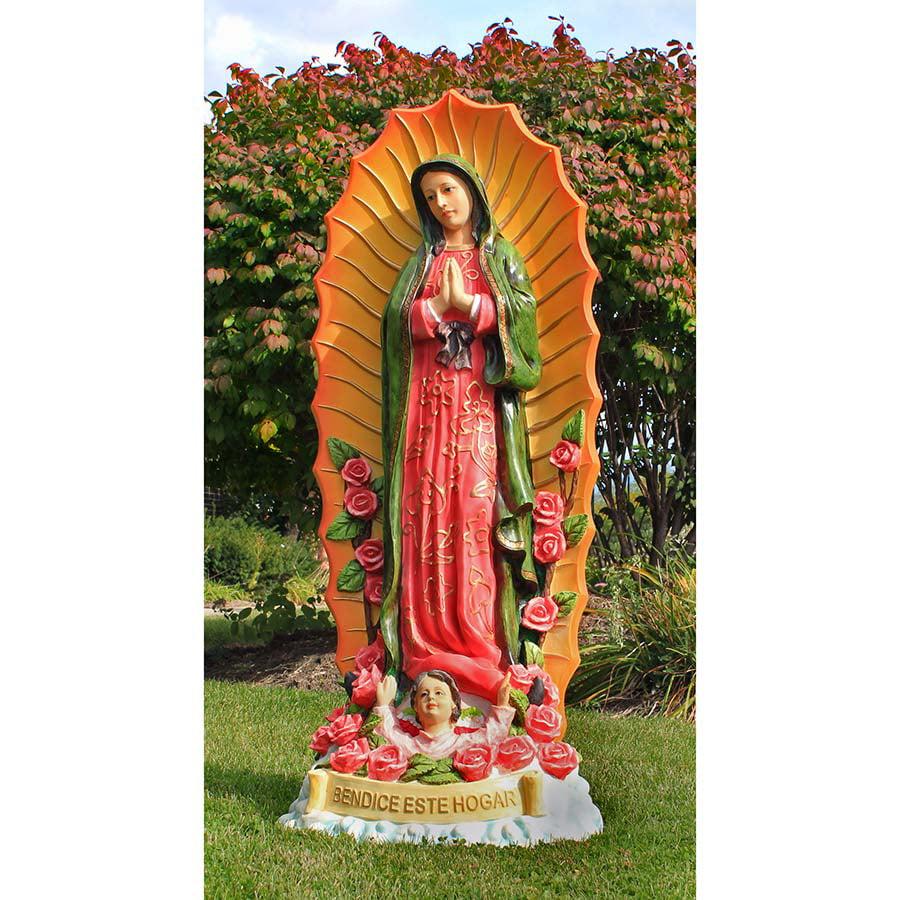 Design Toscano The Virgin of Guadalupe Religious Statue: Grande