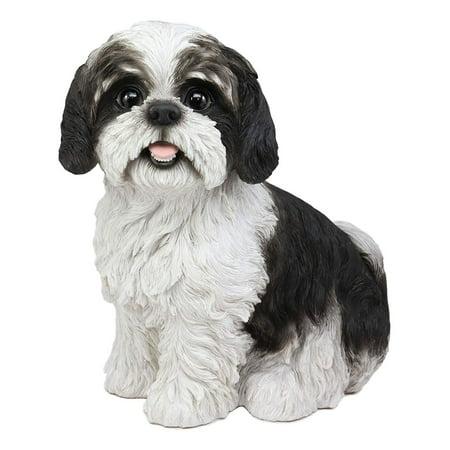 Ebros Large Adorable Lifelike Shih Tzu Dog Statue 10.25