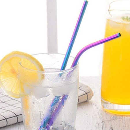 FSD Stainless Steel Straws with customized cleaning brush (8-Pack) - image 1 de 5