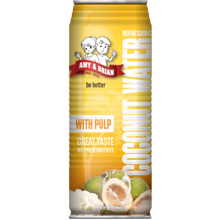 Amy   Brian All Natural Coconut Water With Pulp  17 5 Fl Oz