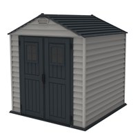 DuraMax 7ft x 7ft StoreMax Plus Vinyl Shed with Molded Floor
