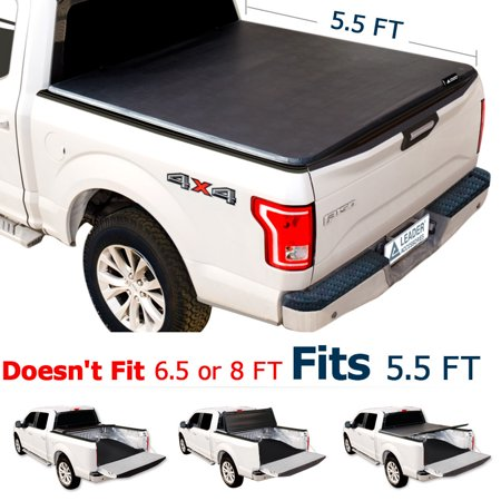 2015 F150 Accessories >> Leader Accessories Tri Fold 5 5ft Tonneau Truck Bed Cover Compatible For Trucks Ford F 150 2015 2016 2017 2018 Styleside Short Bed