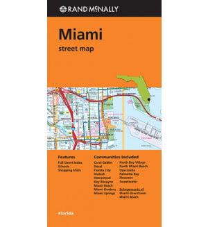 Folded Map Miami Street Map