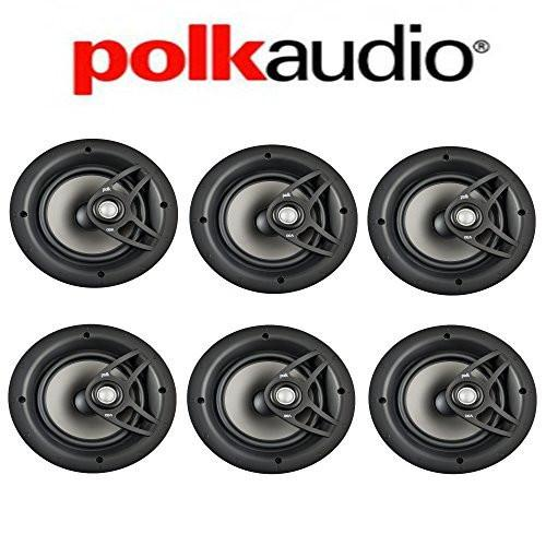 Polk Audio V80 High Performance Vanishing In-Ceiling Loudspeakers (6 Pack) by Polk Audio