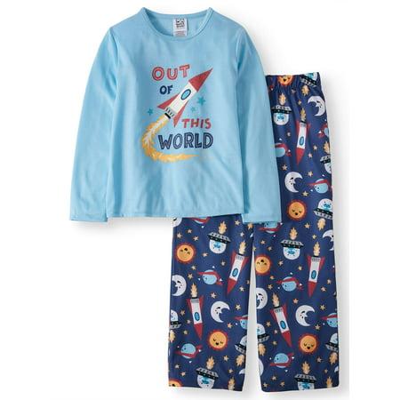 Boys' Long Sleeve Tee and Pants PJ Set - Pj & Me