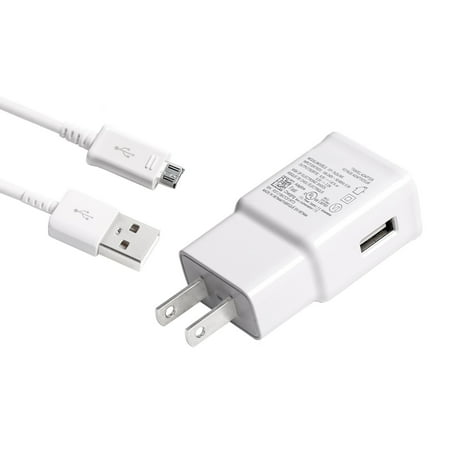 Adaptive Fast Charger Kit Compatible with Samsung Galaxy Express 3 Devices-[Wall Charger+5 FT Micro USB Cable]-AFC uses Dual voltages for up to 50% Faster Charging!-White - image 7 of 9
