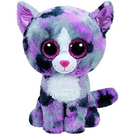 Cp Ty Beanie Boos   Lindi The Cat  Glitter Eyes  Small 6   Plush