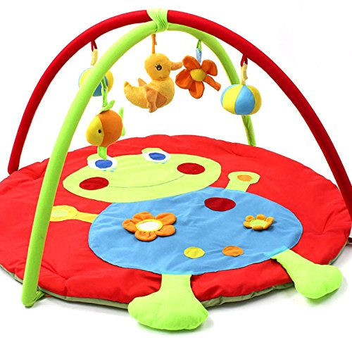 Meigar Baby Gyms and Playmats,Frog Activity Gym Play Mat Crawling Carpet with Bells Toys