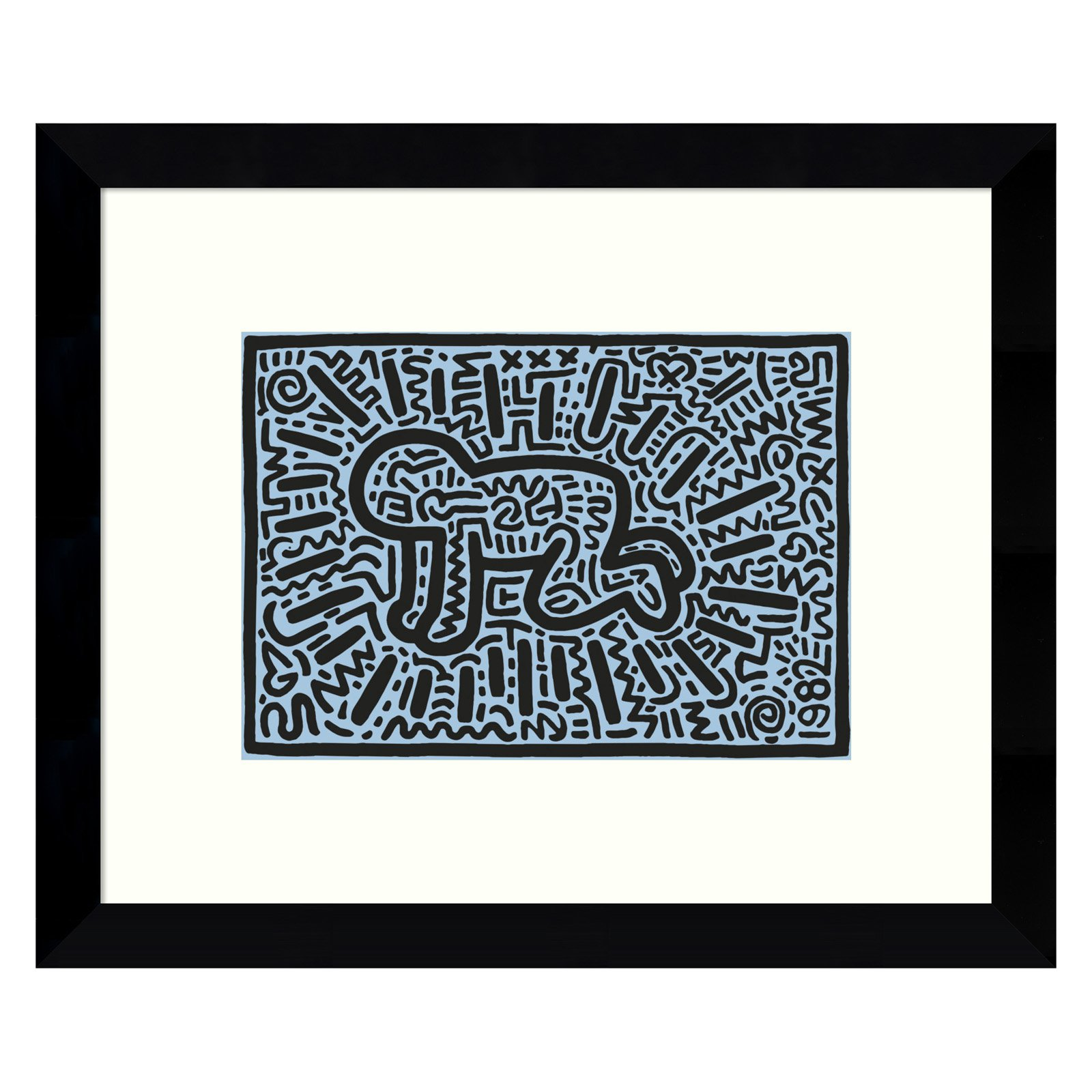 Amanti Art Framed Print - Kh18 by Keith Haring