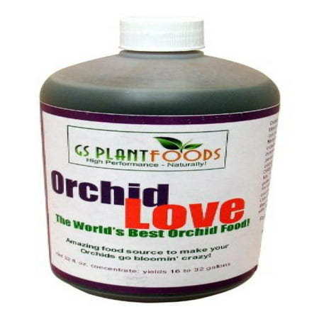 Orchid Love - World's Greatest Orchids Food, Best Organic Natural Orchid Flower Bloom Booster Fertilizer / Fertiliser 1 Quart (32 Fl. Oz.) of Liquid