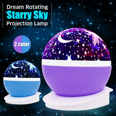 Solmore Star Projector Lamp Night Light 360 Degree Romantic Room Rotating Cosmos Star Projuctor,Christmas Decorations Light Lamp Starry Moon Sky Night Projector Kid Bedroom