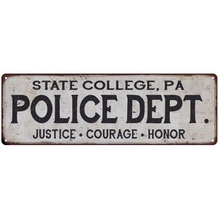 STATE COLLEGE, PA POLICE DEPT. Home Decor Metal Sign Gift 8x24 108240012883