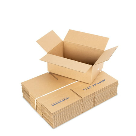 11.75 L x 8W x 4.75H in. Recycled Kraft Shipping Boxes, 18 count (Cardboard Box With Handle)