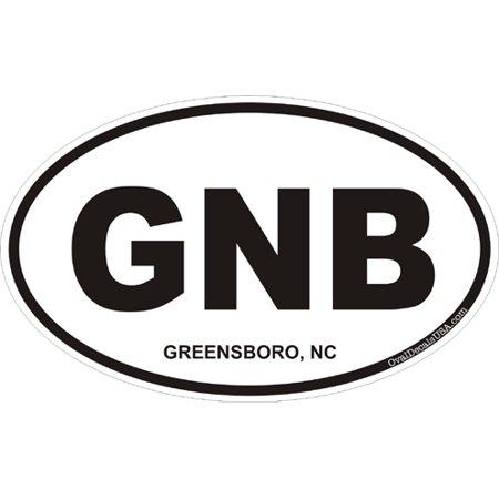 3.8 Inch Greensboro North Carolina Oval Decal