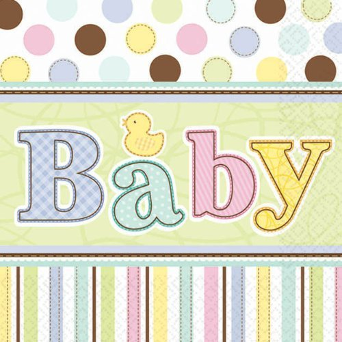 Baby Shower 'Tiny Bundle' Small Napkins (36ct)