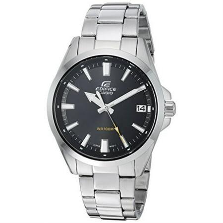 casio men's edifice quartz watch with stainless-steel strap, silver, 19.7 (model: efv-100d-1avcr)